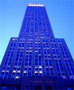 EMPIRE STATE BUILDING one of New York City's main tourist attractions, offers a variety of activities for its visitors. One can tour the Observatory 365 days per year, day and night, rain or shine for breathtaking views of Manhattan and beyond. Also, there are restaurants